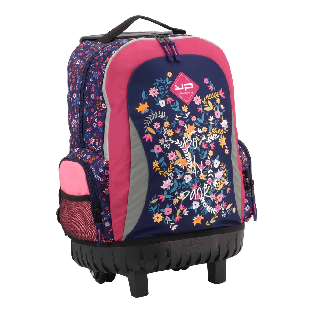 Flower and Butterfly Wheeled Bag - Bodypack