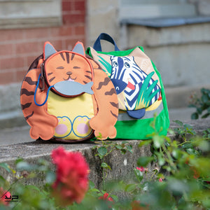 Sac Gouter Rond Chat roux