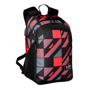 Red Backpack With Extensible Compartment