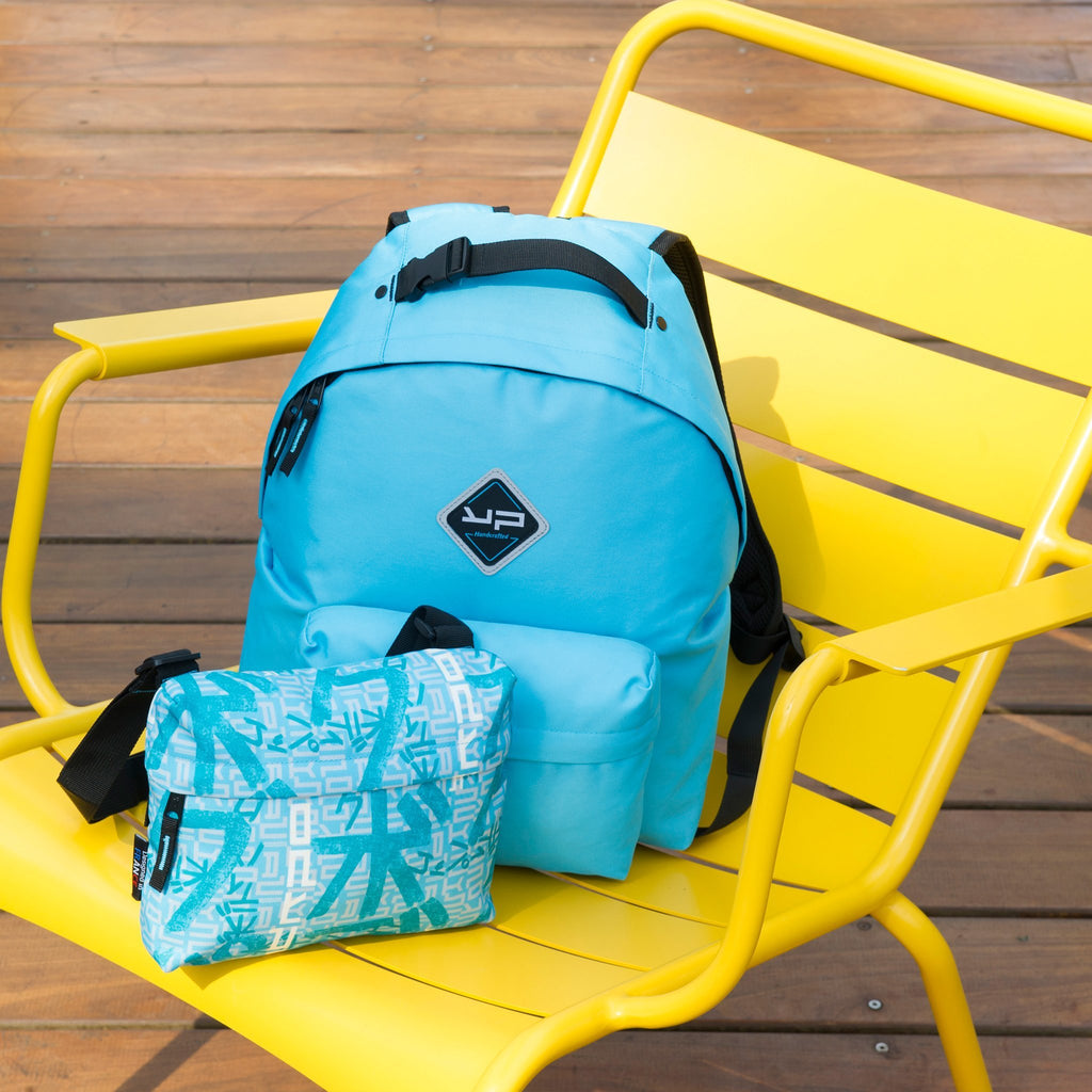Backpack customizable Sky blue Makemypack 3 in 1, 2 cases + 1 bandouilière free - Bodypack