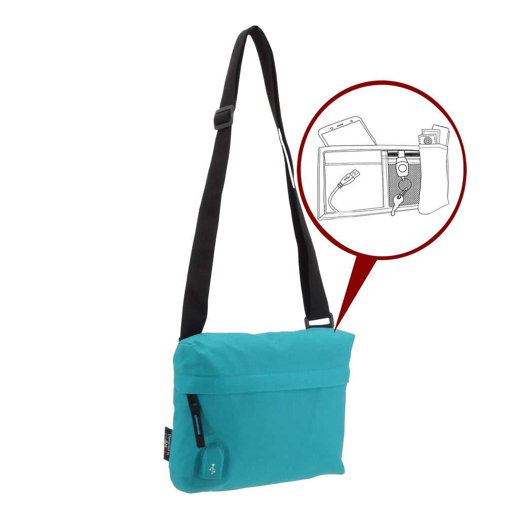 Pochette USB MAKE MY PACK Turquoise - Bodypack