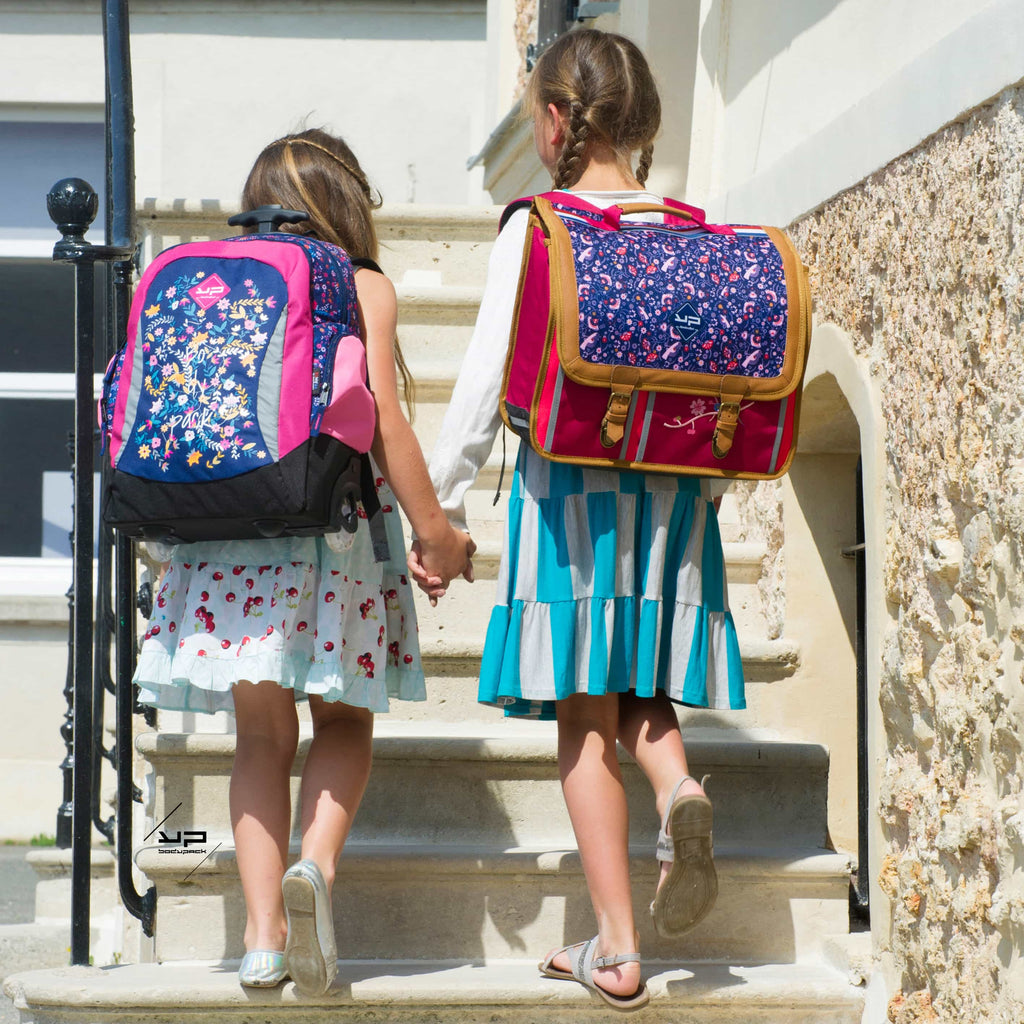 Mochila con ruedas Trottipack Flowers and Butterflies - Bodypack