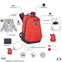 Sac à dos extensible Power rouge bodyadapt - Bodypack