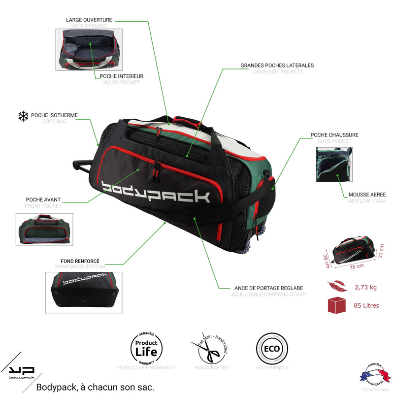 Sport bag 85L roulette Nature - Bodypack