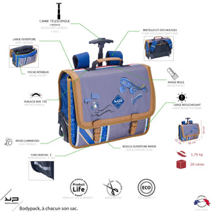 Cartable roulette 41 cm Racing Marathon - Bodypack