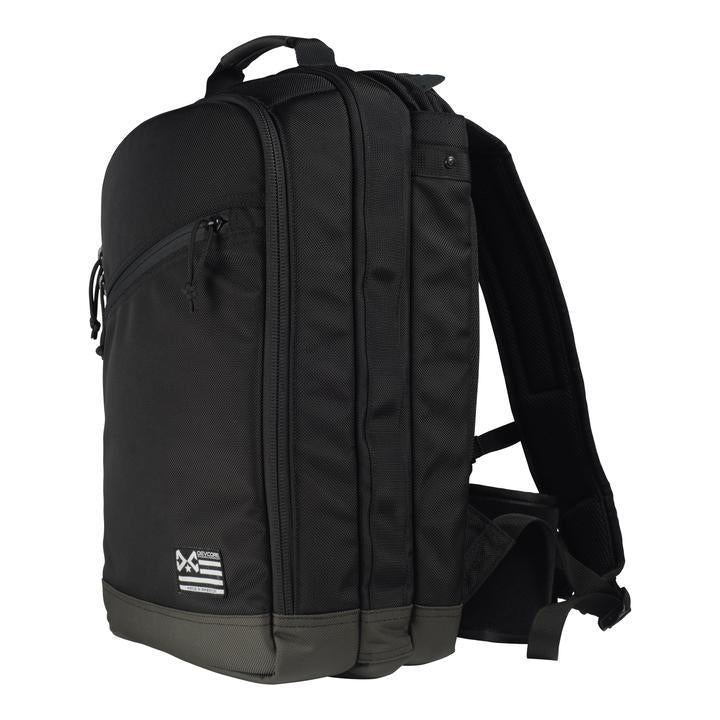 DevCore Plate Carrier Backpack: a concealed carry backpack with rapidly deployable armor plate carrier.