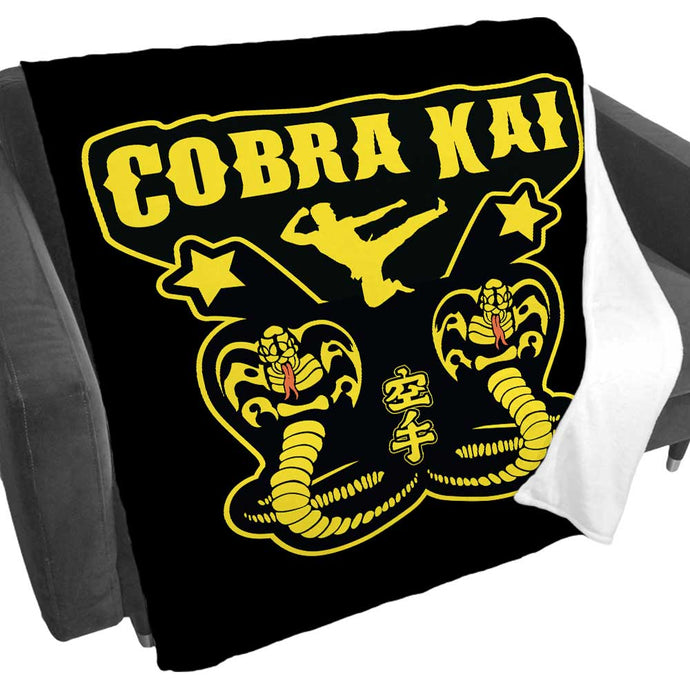Cobra Kai Kick Fleece Blanket