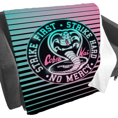 Cobra Kai Neon Logo Gradient Fleece Blanket