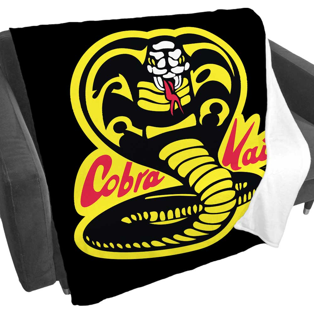 Cobra Kai Logo Black Fleece Blanket
