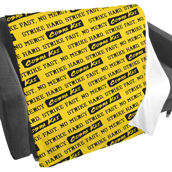 Cobra Kai Strike First Yellow Fleece Blanket