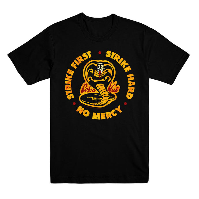 Cobra Kai Distressed Logo Unisex Black Tee from Cobra Kai