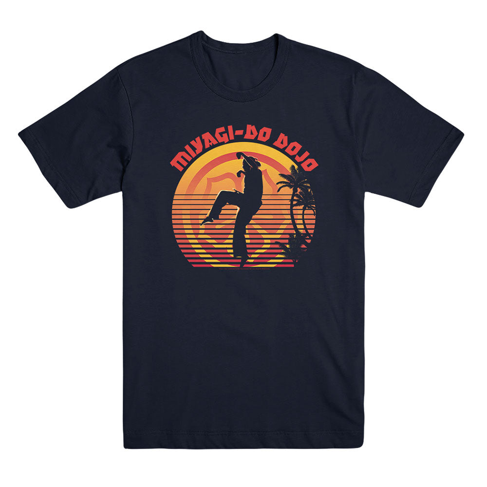 Miyagi-Do Dojo Sunset Unisex Black Tee from Cobra Kai