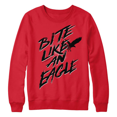 Bite Like An Eagle Red Crewneck from Cobra Kai