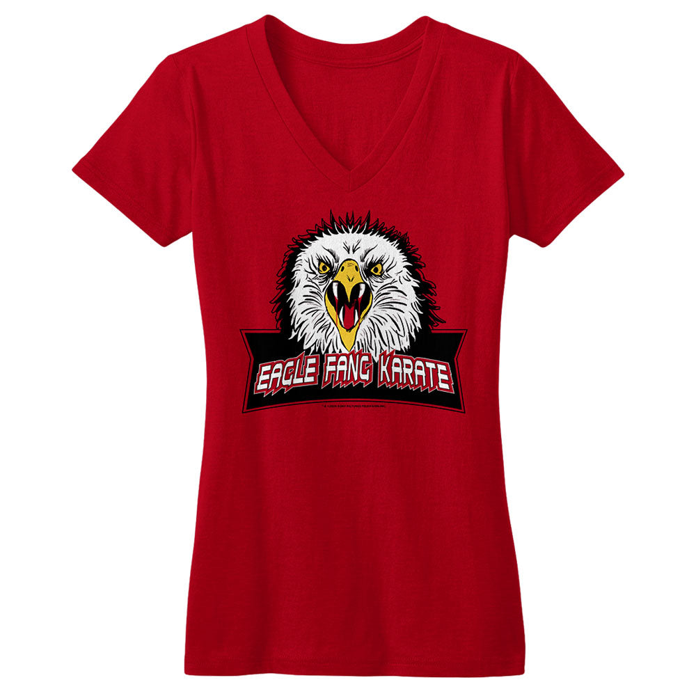 Eagle Fang Karate Woman's Red V-Neck Tee