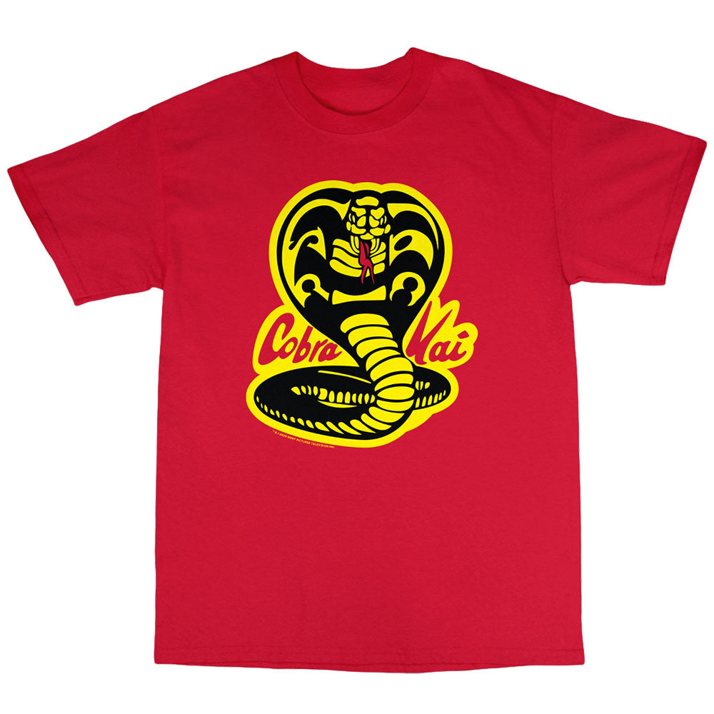 Cobra Kai Snake Logo Youth Red T-Shirt