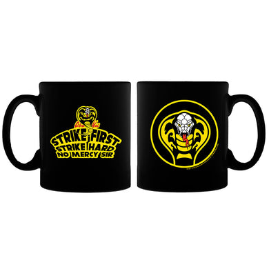 Cobra Kai Strike First Logo Black Mug