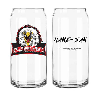 Eagle Fang Karate Personalized Beer Can Glass from Cobra Kai