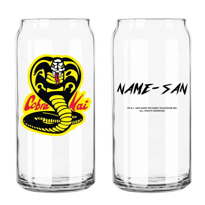 Cobra Kai Karate Personalized Beer Can Glass