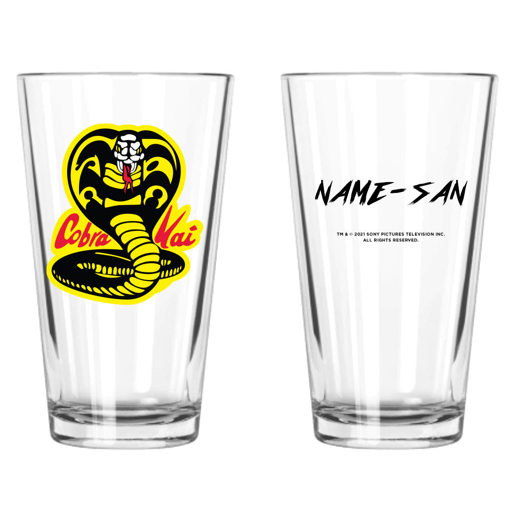 Cobra Kai Karate Personalized Pint Glass