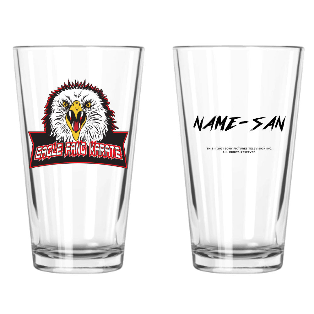 Eagle Fang Karate Personalized Pint Glass from Cobra Kai