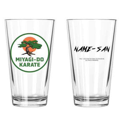 Miyagi-Do Karate Personalized Pint Glass from Cobra Kai