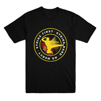 Cobra Kai Strike First Adult Black Unisex Tee