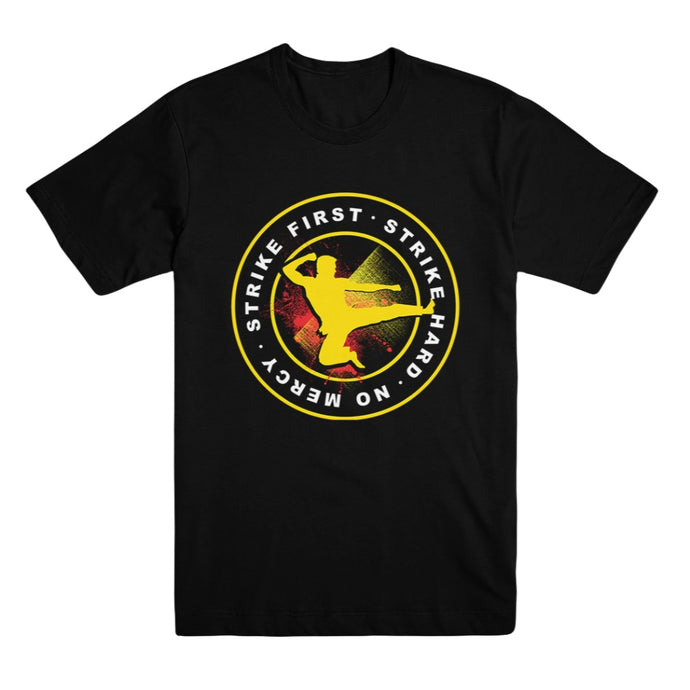 Cobra Kai Strike First Black Unisex Tee