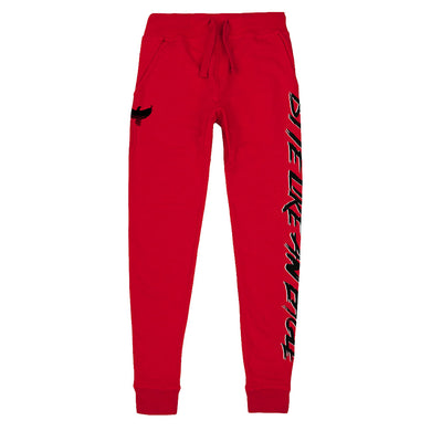 Bite Like An Eagle Red Joggers from Cobra Kai