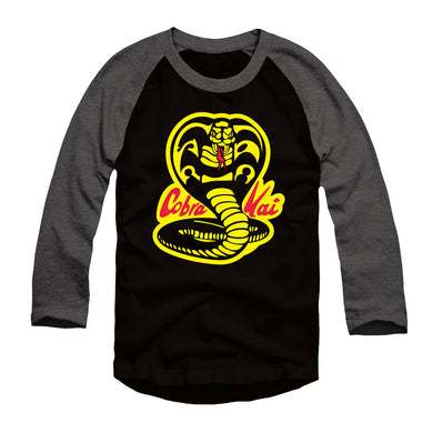 Cobra Kai Karate Black and Gray Raglan