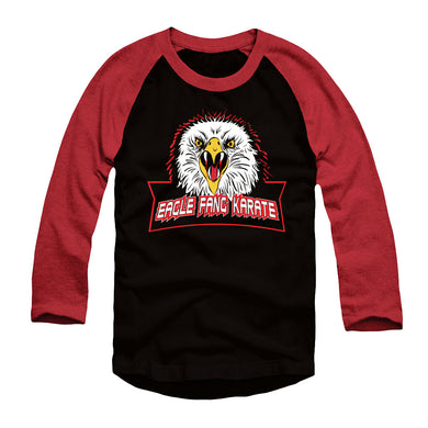 Eagle Fang Karate Black and Red Raglan