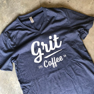 Heather Navy V-Neck Tee