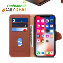 Load image into Gallery viewer, iPhone X Genuine Leather Wallet