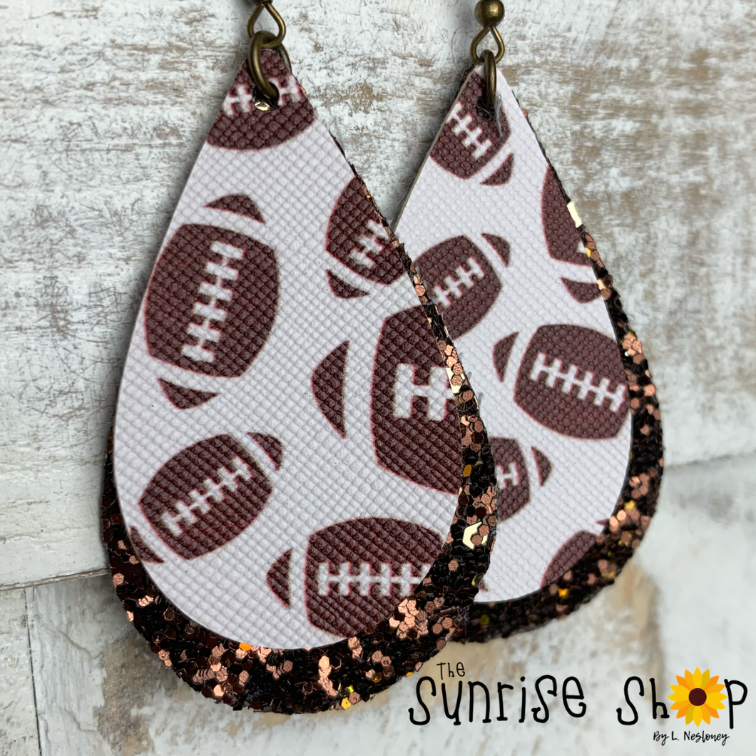 Football Glitter Doubles