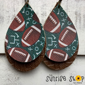 Football Brown/Green Doubles
