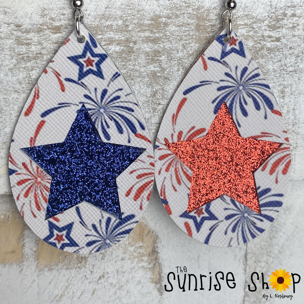 Patriotic Cut-Out Glitter