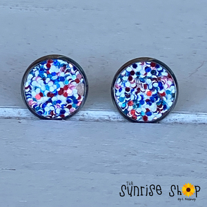 Red, White, and Blue Studs