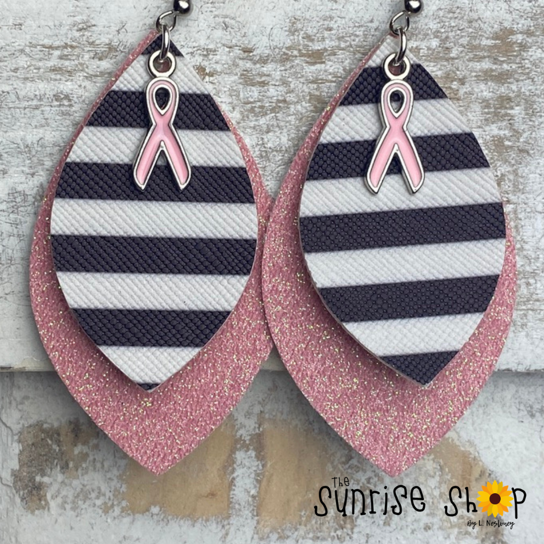 Breast Cancer Awareness (Stripes & Charm)