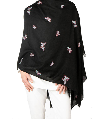 Pashmina Butterflies Fly Free Shawls