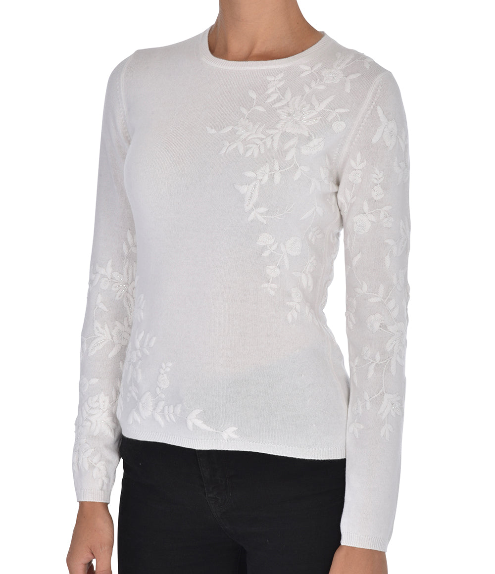 White Embellished Sweater