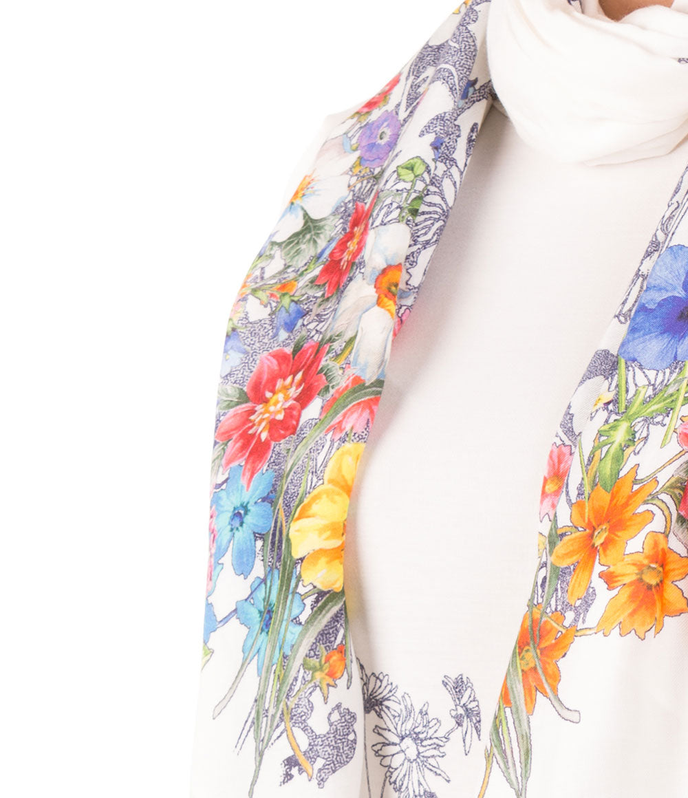 FLORAL BOQUET TOP SCARF SET