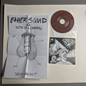 "ETHER BINGE / CHAINSAW SQUID split 7"" OPQ036"