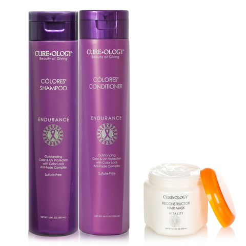 Cureology Colores Set + Free Hair Mask SHAMPOO AND CONDITIONER CUREOLOGY BEAUTY