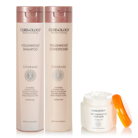Cureology Voluminous Set + Free Hair Mask SHAMPOO AND CONDITIONER CUREOLOGY BEAUTY