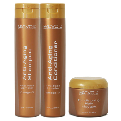 Macvoil Set + Free Hair Mask or Hair Spray SHAMPOO AND CONDITIONER MACVOIL with Hair Mask