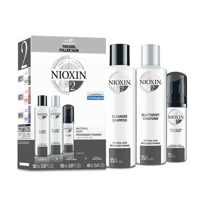 Nioxin System 2 Trio SHAMPOO & CONDITIONER SETS NIOXIN Trial Kit System
