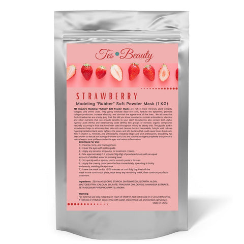 "Strawberry Modeling ""Rubber"" Soft Powder Mask (1 KG) SKIN CARE HUINI"