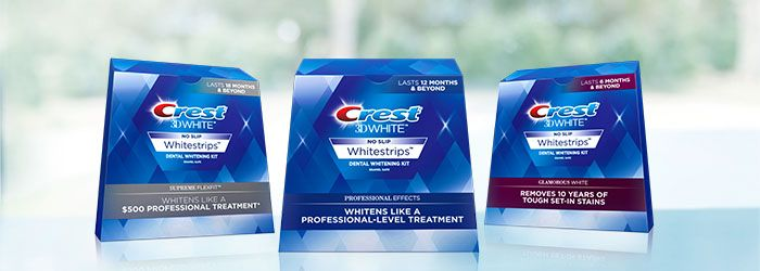 How long can I wear Crest Whitening strips?