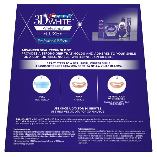 <Pack de deux> Crest 3D Whitestrips Professional Effects Kit de bandes de blanchiment des dents (LUXE)