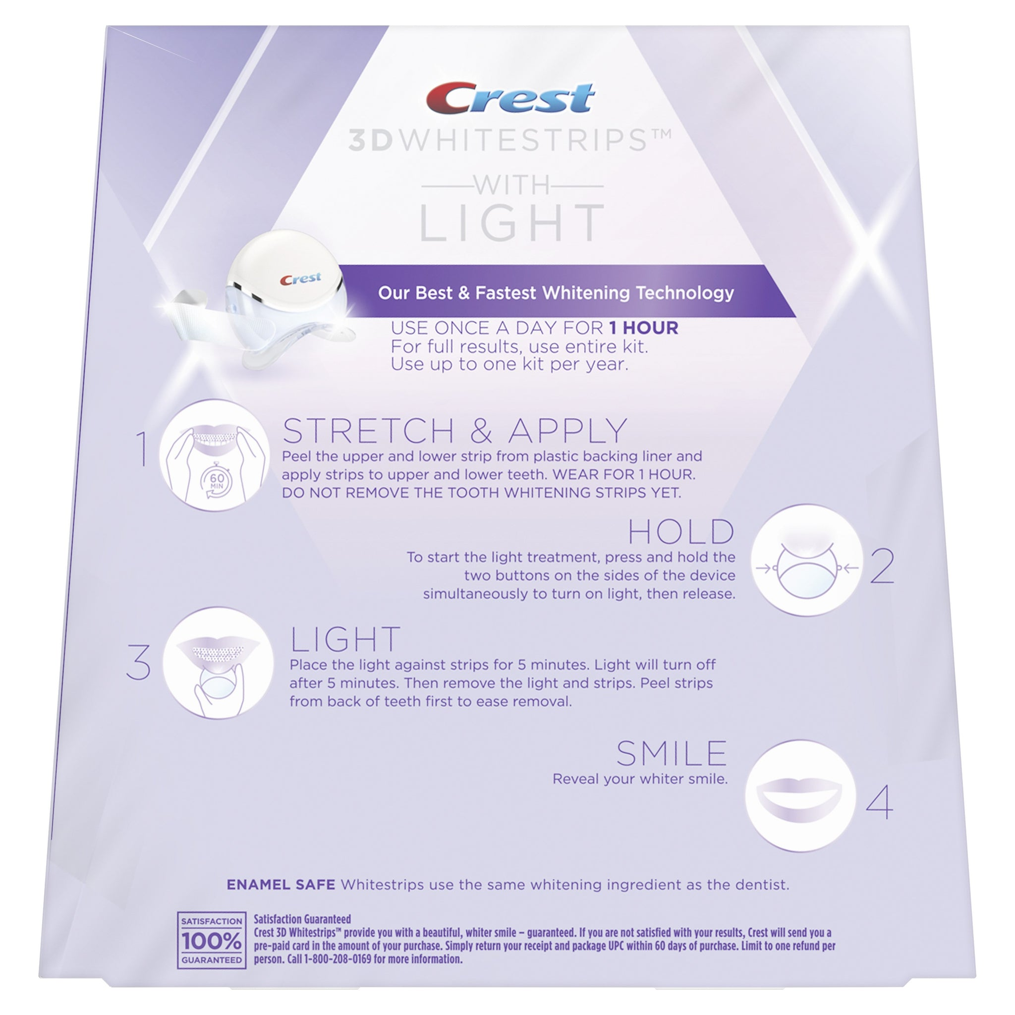 Crest 3d White Whitestrips With Light Teeth Whitening Kit My