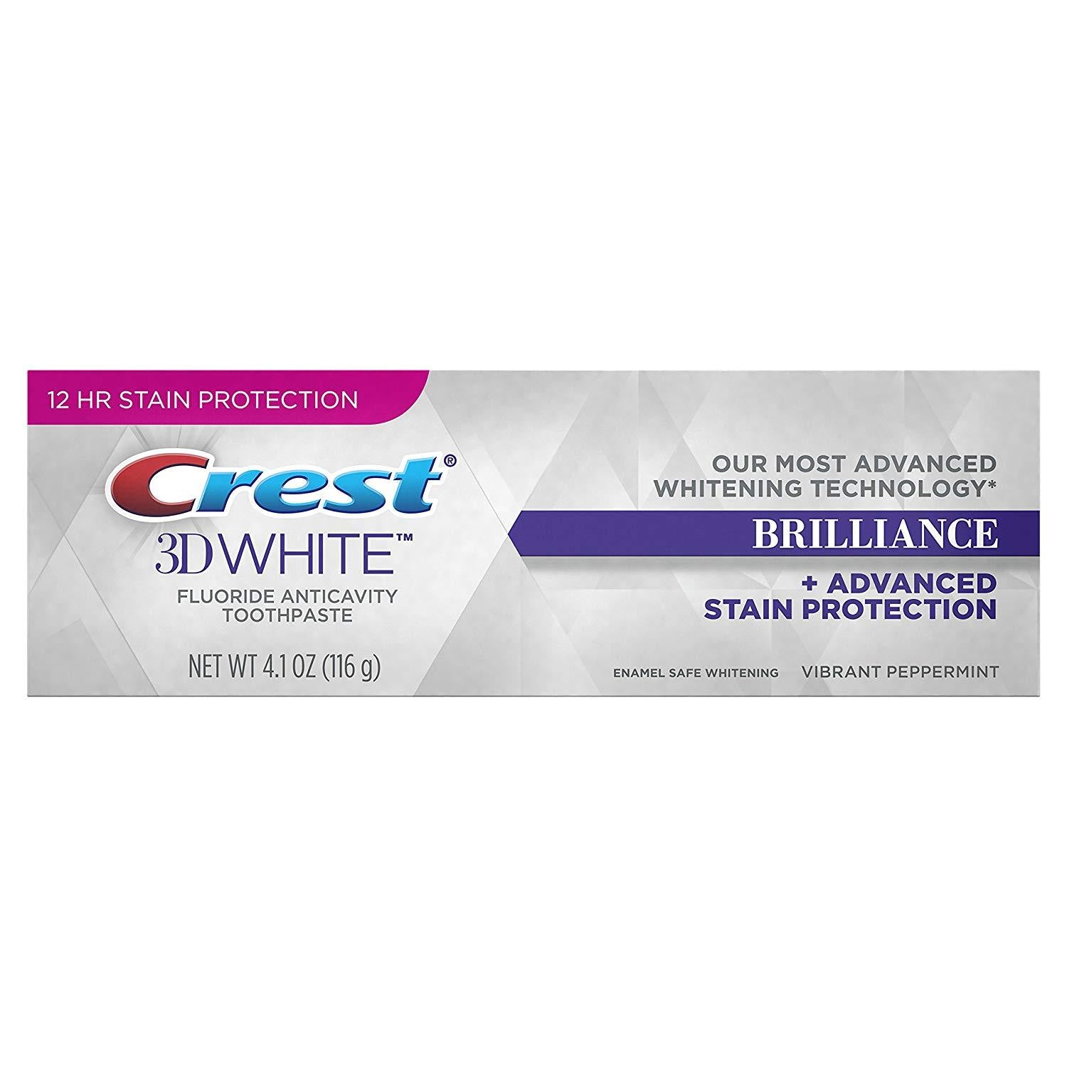 <Offre groupée> Crest 3D Whitestrips Brilliance Gentle Teeth Whitening Kit & Whitening Dentifrice